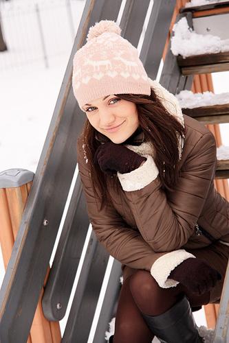 Katja / sesja zimowa, sesja świąteczna / fot. Alicja Rzepa