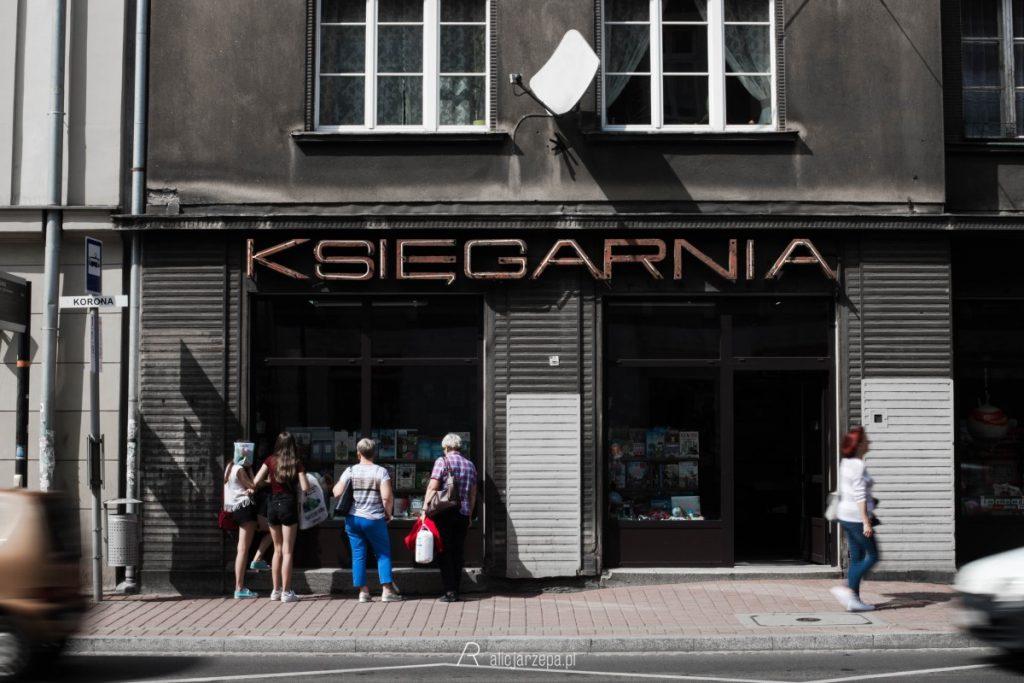 Ⓒ Alicja Rzepa • Zaczytany Kraków • Księgarnia przy Koronie (już zlikwidowana)