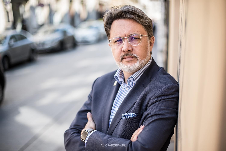 Michał Rusinek / sesja okładkowa dla Miesięcznika Kraków / © Alicja Rzepa